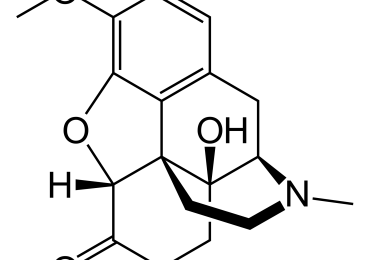 Oxycodone or OxyContin Chemical Structure