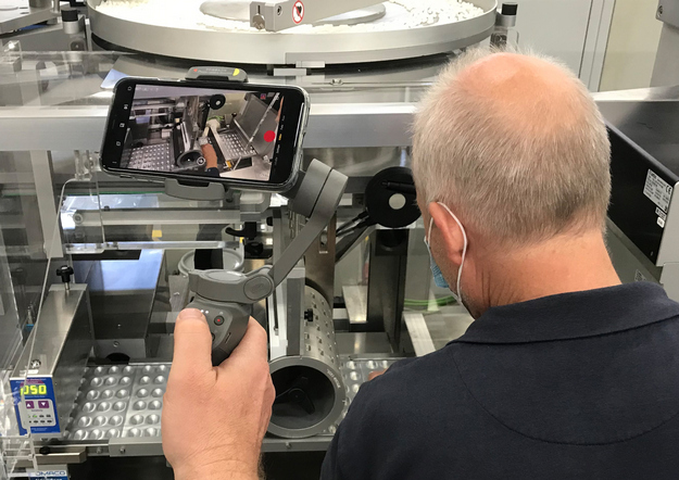 Live stream of a factory acceptance test for a Romaco Noack blister machine