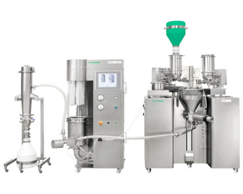 Visitors to the Virtual Show can find out how the Xelum R&D doses, mixes and granulates individual packages, so-called X-keys continuously and conveys them pneumatically into the GKF 720 capsule filling machine.